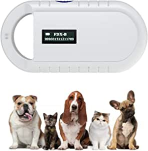 Pet Microchip Scanner, 134.2kHz ISO11784/ISO11784/FDX-B/EMID RFID Pet Microchip Reader for Animal/Pet/Dog/Cat/Pig…