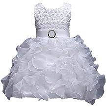 ADHS Infant Newborn Kids Baby Girls Flower Wedding Gowns Prom Dress
