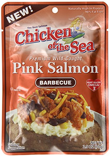 Boneless Salmon (Chicken Of The Sea Pink Salmon, BBQ, 2.5 Ounce (Pack of)