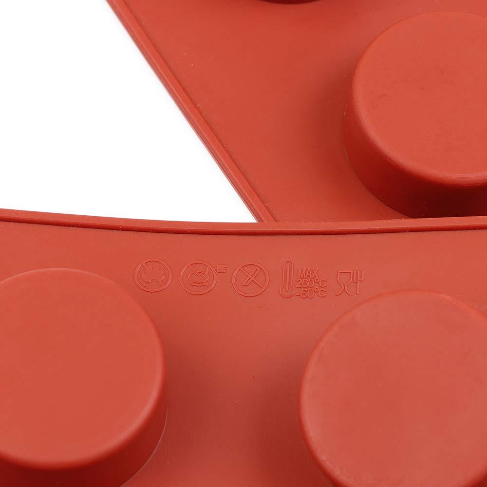 dessous de verre en r/ésine homEdge Moule en silicone en forme de disque /à 8 cavit/és Moules /à savon faits /à la main Tarte Gustard 3 paquets de g/âteaux /à disque Brun