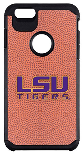 LSU Tigers Classic Football Pebble Grain Feel iPhone 6 Plus Case,One Size,Brown