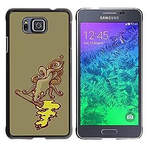 All Phone Most Case / Hard PC Metal piece Shell Slim Cover Protective Case Carcasa Funda Caso de protección para Samsung GALAXY ALPHA G850 Sewage Monster Octopus Kraken