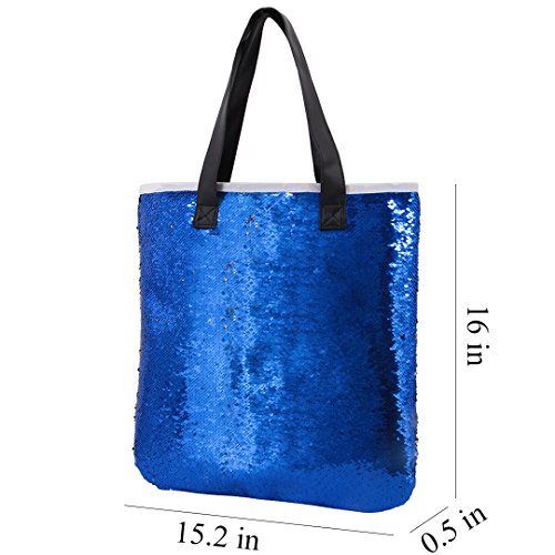 Boutique Party Blue Shoulder Shiny Women Sequined Bag Royalblue Shopping Bag Totes Light Novias Multifunctional Mermaid axdaZ