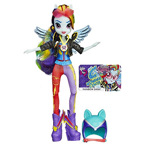 My Little Pony Equestria Girls Rainbow Dash Sporty Style Motocross (Rainbow Dash Glasses)