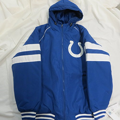 G-III Indianapolis Colts Mens Large Full Zip Embroidered Hooded Winter Jacket ACOL 24 L