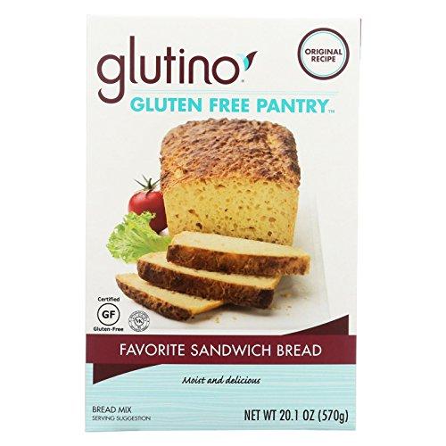 Glutino Gluten Free Flour - Glutino, Fav Sandwich Bread Mix, W/F, Pack of 6, Size - 20.1 OZ, Quantity - 1 Case