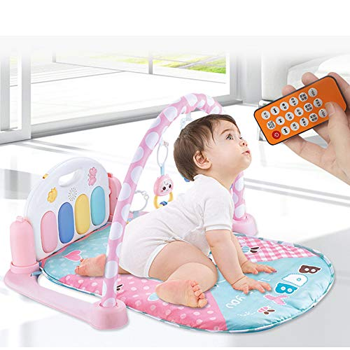 MCJL Remote Control Pedal Piano Early Childhood Education Rattle Music Carpet Fitness Rack Game Suitable for Newborns Born in Music and Lighting,Lion by MCJL (Image #1)