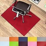 casa pura Office Chair Mat Hard Floor - 30''x48'' | Desk Floor Mats, Red - BPA free, Odorless