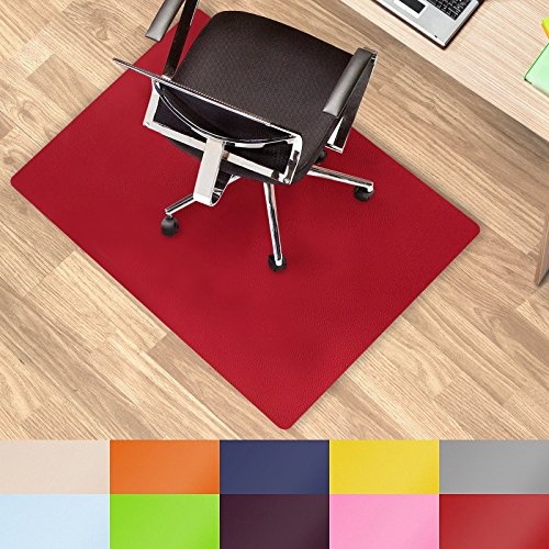 casa pura Office Chair Mat Hard Floor - 30''x48'' | Desk Floor Mats, Red - BPA free, Odorless by casa pura