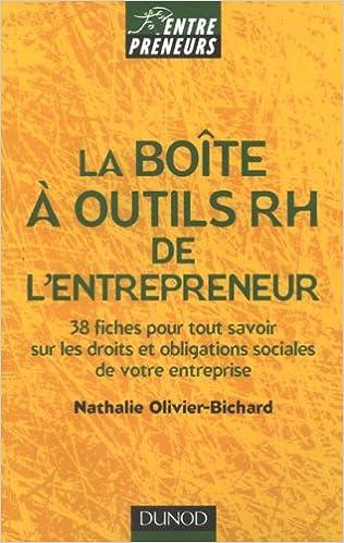 Lire La boîte à outils RH de l'entrepreneur pdf