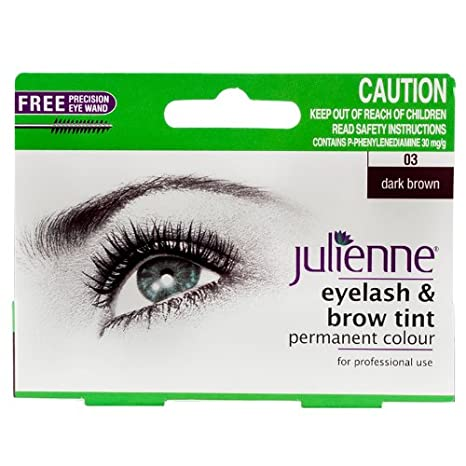 40c9ca663c3 Julienne Eyelash and Eyebrow Permanent Dark Brown 03 Colour Tint 15ml:  Amazon.co.uk: Beauty