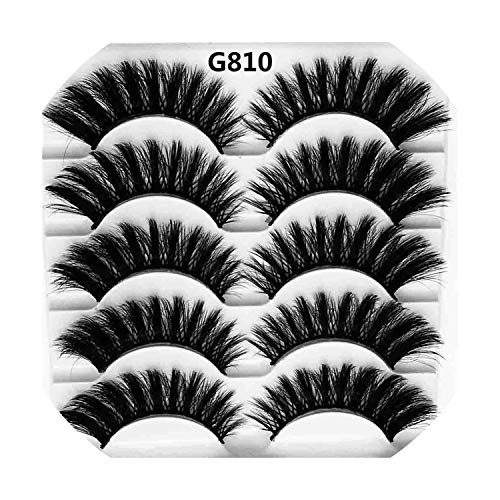 18aef28ed5d 5 Pairs Luxurious Mink Hair False Eyelashes Thick Curled Full Strip Lashes  Eyelash Extension Fashion Women