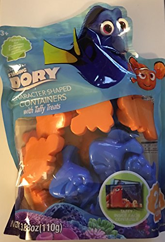 Disney Finding Dory Character Shaped Classroon Exchange Valentine Containers with Taffy Treat ~ 22 count