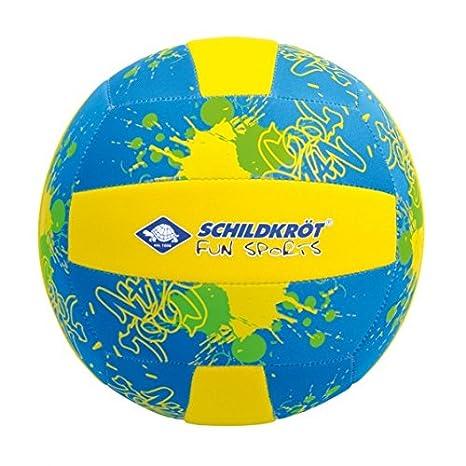 Balón de voleibol de playa amarillo/azul talla 5: Amazon.es ...