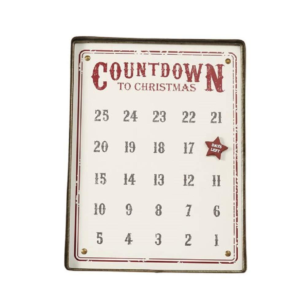 Distressed Tin Advent Calendar, 16' x 12' 16 x 12 MP001