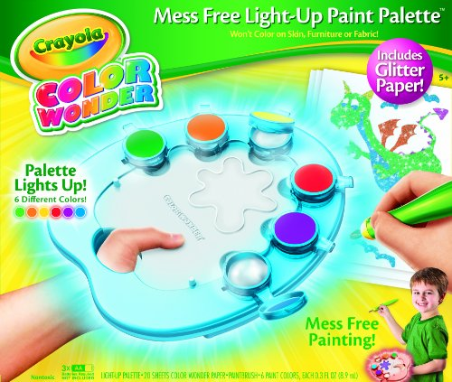 Crayola Color Wonder Light-Up Paint Palette with Glitter Paper by Crayola
