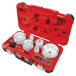 Milwaukee 49-22-4185 28-Piece All Purpose Professional Ice Hardened Hole Saw Kit from Milwaukee