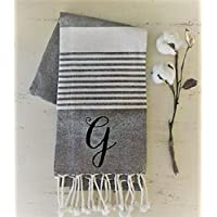 Turkish Towel Monogrammed | Monogrammed Linens | Kitchen Linens | Personalized Gifts | Farmhouse Towel