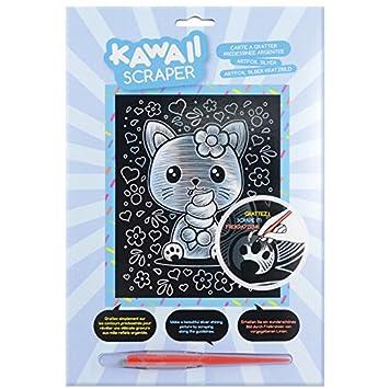 Mammut 61623 – Art Foil Silver Kawaii Gato, Aprox. 25,5 x 20