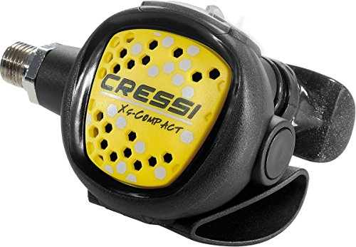 (Cressi Octopus XS-Compact, light and flexible octopus for scuba diving, made in Italy)