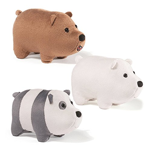 Gund - we Bare Bears 5 x 3.5 Inch Magnetic Stackable Set of 3 Plush -
