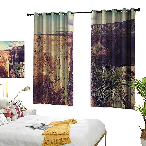 (RuppertTextile Sliding Curtains Exotic Photo of Canyon Rocks Formed Eroding Habita Feature of Geologic Movement 55