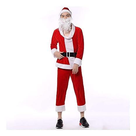 SDLRYF Disfraz De Papá Noel Traje De Navidad Santa Claus ...