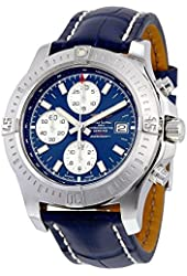 Breitling Colt Chronograph Automatic Blue Dial Blue Leather Mens Watch A1338811-C914BLCT