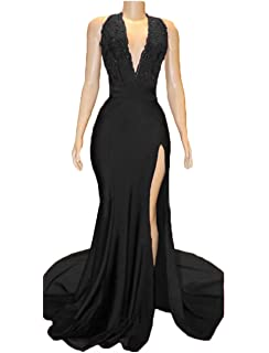 6ef4cab85e53 Z Sexy High Neck Long Mermaid Prom Dresses Backless Beaded Appliques Lace Evening  Dresses