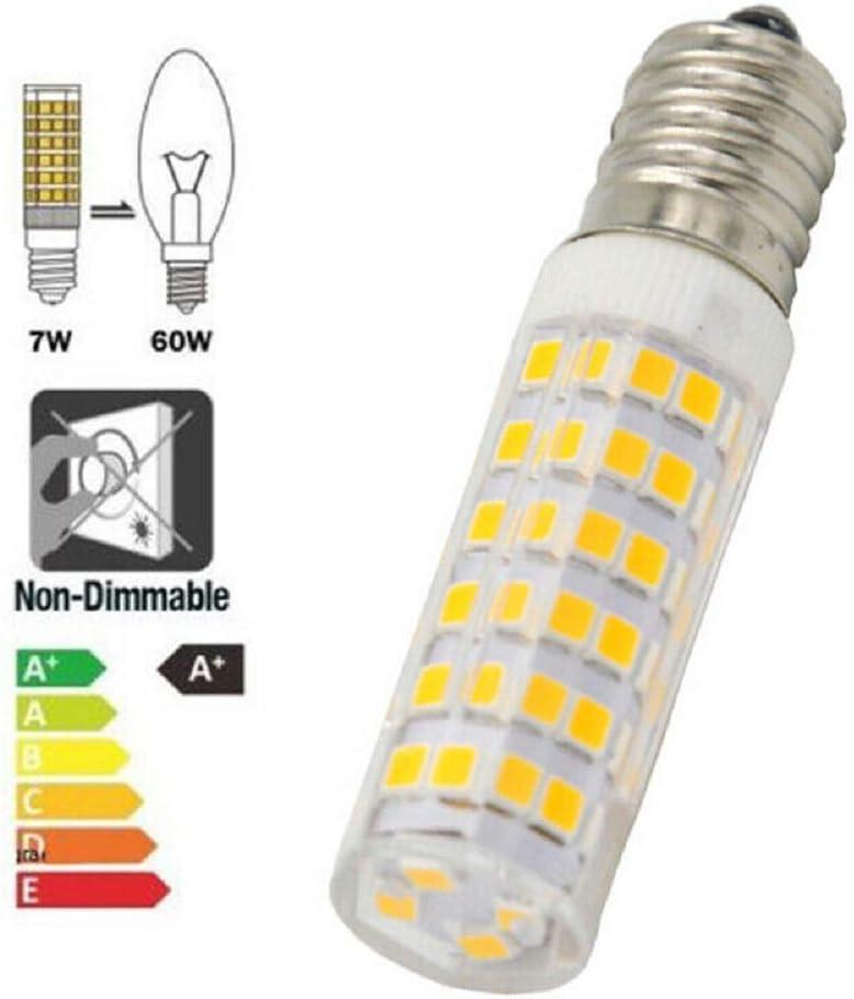 2 Pack E14 7W White LED Light Bulb for Kitchen Range Hood Chimmey Fridge Cooker