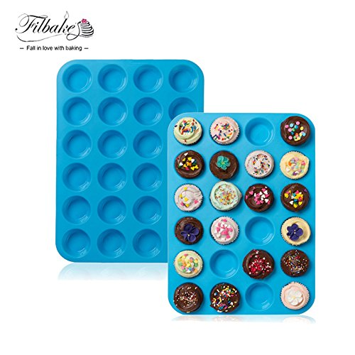 Star-Trade-Inc - Mini Silicone Muffin Pan and Cupcake Maker Bakeware for Custard, Quiche, Cake, Cupcakes, Pie and Pudding Baking Tray