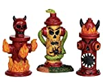 Lemax Spooky Town Hellfire Hydrants Set of 3 # 54905 by Lemax