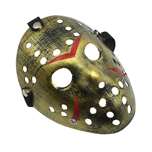 Halloween Costumes Ideas For Preschool Teacher (Party Masks Decor Halloween Costume - Yiseng Cosplay Horror Mask Full Face Party Favors (gold))