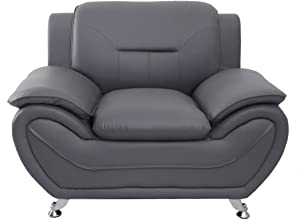 Container Furniture Direct Michael Club Chair, Gray