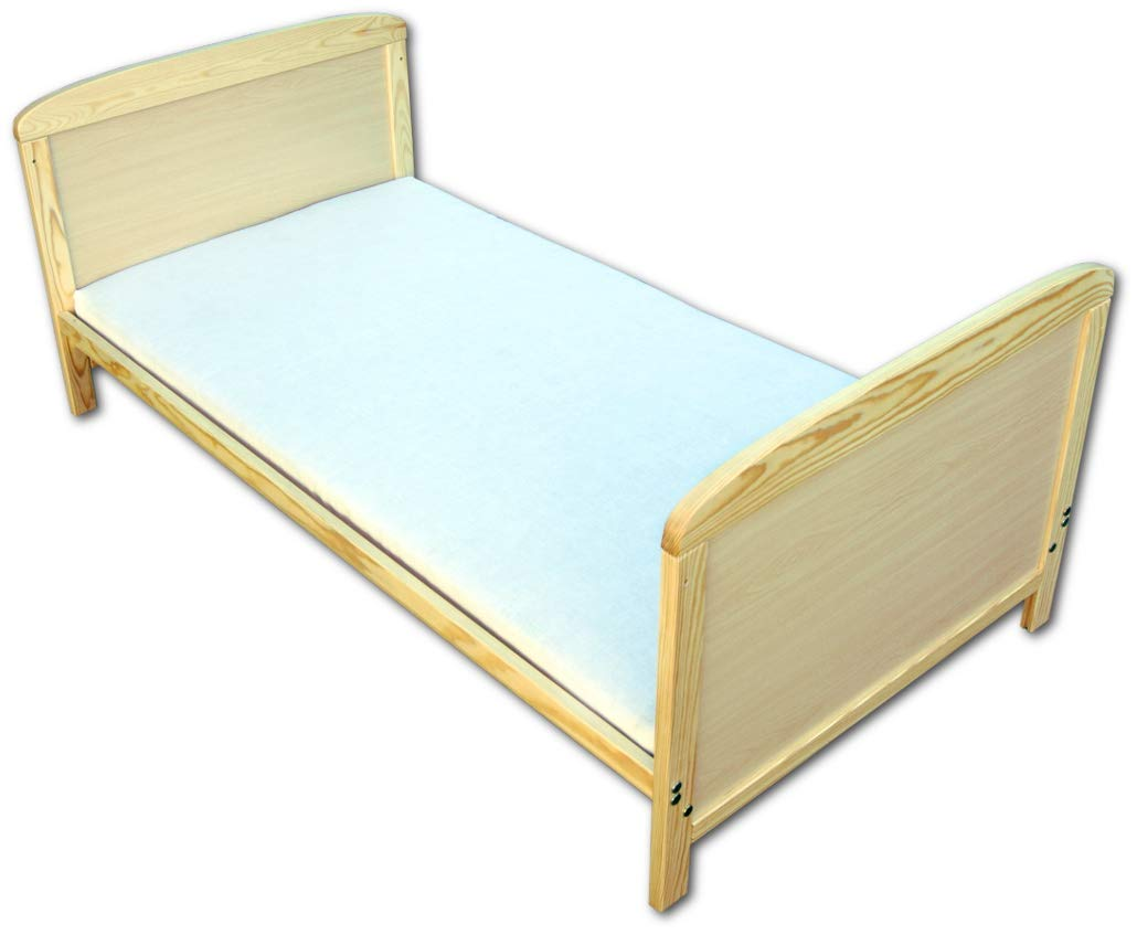 Fb. Natur Niuxen BK-01 Baby Bett Kinderbett Juniorbett 2 in1 Umbaubar 140x70 mit Matratze
