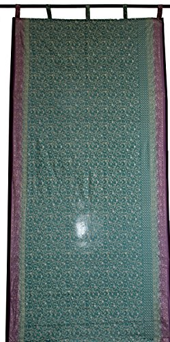 Drape Georgette - Indian Door Cover Curtains Fabric Georgette Window Cover Drape Panel Price Per Curtain