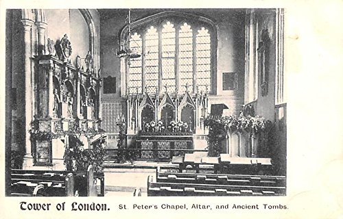 St Peter's Chapel, Altar and Ancient Tombs, Tower of London London United Kingdom, Great Britain, England -