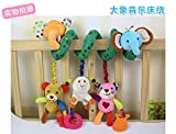 Baby Bucket Premium Quality Baby Bed and Stroller Elephant Toy Baby Rattle Bed Hanging Activity Spiral with Teether & Music