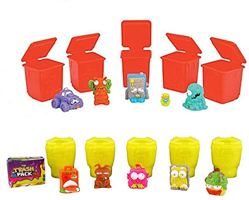 Trash Packs The Series 4 Wheelie Bins with 5 Trashies /& Series 5 Sewer Trash Toilets with 5 Trashies
