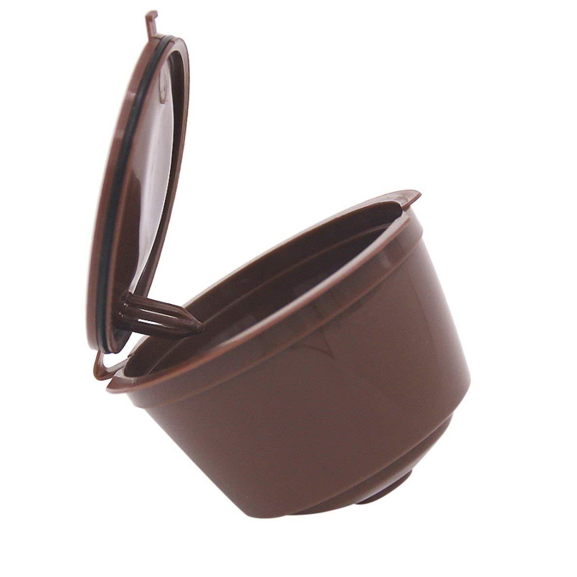 gfjfghfjfh Cestas de Filtro de caf/é de tama/ño peque/ño C/ápsulas de caf/é vac/ías Reutilizables Cestas Recargables de pl/ástico Taza de la Taza del Filtro del caf/é Express