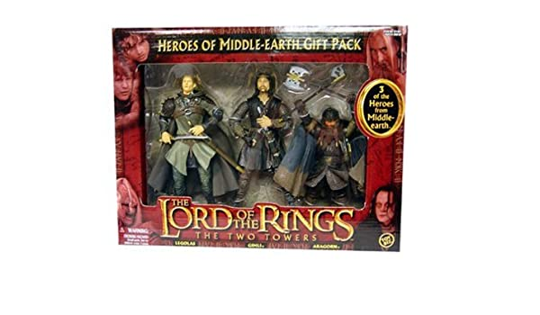 Toybiz Lord of The Rings Heroes of Middle Earth Gift Pack Gimli Aragorn & Legolas by: Amazon.es: Juguetes y juegos