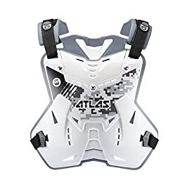 Atlas Brace Technologies Defender Digital Arctic Chest Protector (White, Adult)