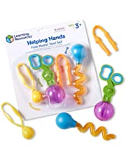 Learning Resources LER5558 Helping Hands Fine Motor Tool Set 4 Items