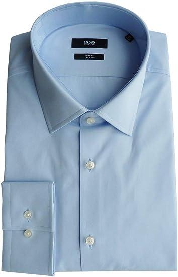 Boss Hugo Camisa Talla 44 (17.5), Slim Fit, Two Ply, Forma ...