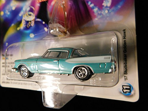 (1957 Studebaker Golden Hawk (turquoise) Holiday Ornament with Removable Hanger 1:64 scale die-cast by Johnny Lightning)