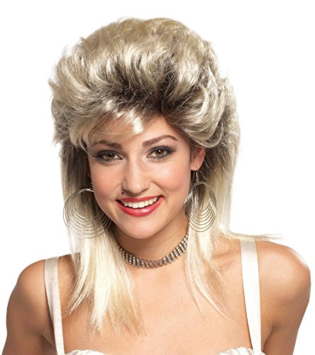Mario Chiodo Women's Rocker Groupie 80s Blonde Wig Adult Halloween Costume Accessory