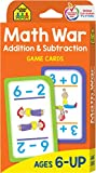 School Zone - Math War Addition and Subtraction Game Cards, Ages 6 and Up, Kindergarten to Second Grade, Addition, Subtraction, and Math