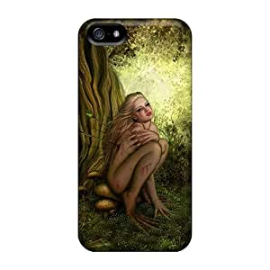 Case Cover Protector For Iphone 5/5s Wounded Girl Hd Case