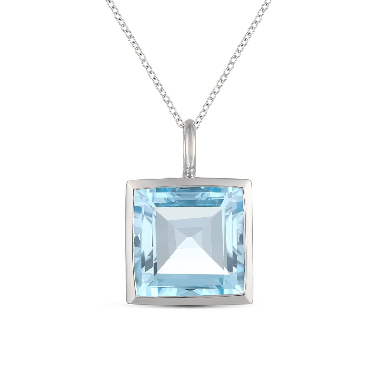 Jewel Ivy Mother's Day Gift, 925 Sterling Silver Pendant with Sky Blue Topaz