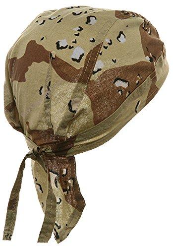 Desert Camo Clothing (Camouflage Doo Rag Skull Cap Camo Bandana Hunting Hunters Head Wrap (Desert Camouflage))